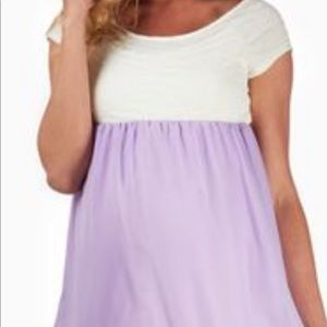 Pinkblush Lavender Maternity Blouse